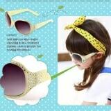 chi tiết kính mát gọng đính hạt thương hiệu Lemonkid Hàn Quốc  Size: 1 tuổi trở lên