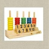 Bàn tính học đếm hỗ trợ trẻ học toán theo phương pháp trực quan sinh động, dễ hiểu và thực hành nhanh. Bé sẽ làm quen với các khái niệm lớn hơn, nhỏ hơn, bằng nhau và nhận biết các số từ 1 đến 10. Nhờ đó, kích thích thị giác nhờ màu sắc tương phản của các hình khối và rèn luyện cho bé khả năng tư duy, phân tích và suy luận. Đồ chơi được làm từ chất liệu gỗ cao cấp, sơn an toàn cho sức khoẻ của bé (không phai màu, không dính màu, không hại đến da bé), các chi tiết được bo tròn tránh bé bị trầy xước. Cách chơi: Dùng những vòng đếm để dạy bé cách đếm hoặc làm các phép toán cơ bản. Thích hợp cho trẻ từ 3 tuổi trở lên.  Size: 26x7,2x16cm.