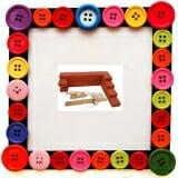 Gạch xây dựng nhỏ. Bằng gỗ sơn màu, 20 viên 1 túi. Cho bé chơi, học làm thợ xây.  Size: 8 x 4 x 2 cm