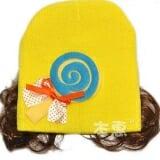 nón len tóc giả cây kẹo  Size:  3 tháng-18 tháng