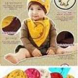 set nón thun + khăn đồng hồ  Size:  3 tháng- 18tháng