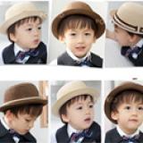 nón phớt phong cách Hàn Quốc  Size:  18 tháng tuổi trở lên (52cm)
