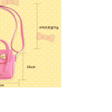 chi tiết túi xách đính nơ hiệu LEMONKID, phong cách Sweet Lady Hàn Quốc, chất liệu PU da  Size:  mini