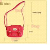 túi xách có khóa hiệu LEMONKID, phong cách Sweet Lady Hàn Quốc, chất liệu PU da  Size:  mini
