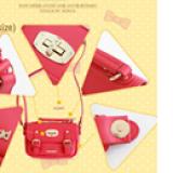 chi tiết túi xách có khóa hiệu LEMONKID, phong cách Sweet Lady Hàn Quốc, chất liệu PU da  Size:  mini
