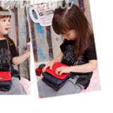 túi xách khóa trái tim hiệu LEMONKID, phong cách Nhật Bản, chất liệu PU da  Size:  mini