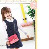 túi xách có nắp đính nơ hiệu LEMONKID, phong cách Sweet Lady Hàn quốc, chất liệu PU da  Size:  mini