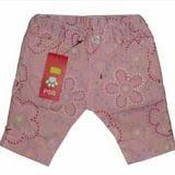 Quần ngố lửng kaki co giãn nhẹ hoa màu hồng phấn PSB - xuất Nhật  Size:  80 - 140