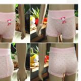 Quần chíp đùi cotton 4 chiều hình chấm bi  Size: M(2-4 tuổi), L(4-7 tuổi)