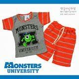 Bộ thun cotton quần lửng hình quái vật một mắt - Hàn Quốc  Size:  100 - 140