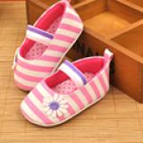 Giày tập đi kẻ sọc kết hoa chống trượt  Size: 11 cm