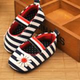 Giày tập đi kẻ sọc kết hoa chống trượt  Size: 12  cm