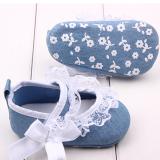 Giày tập đi jean kết ren  Size: 11 cm