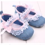 Giày tập đi jean kết ren  Size: 11cm
