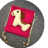 balo vải bố con ngựa  Size: Chiều cao 30cm * Chiều rộng 28.5CM