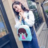 ba lô da PU hoạt hình-phong cách Hàn Quốc  Size: 32cm * 26cm * 13cm