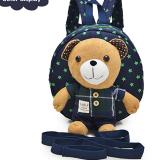 balo gấu xanh ca rô  hiệu OEM; chất liệu: bên trong lót vải dù, ko thấm ướt. gấu có thể tháo rời, có dây kèm theo để giữ bé :)  Size: 22 x 9 x 23 cm