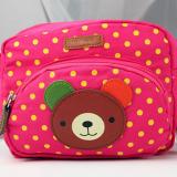 Túi xách chấm bi kết gấu hồng  Size: 20cm x15cmx7cm