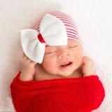 băng đô dạng mũ cho bé sơ sinh  Size: 0-3 tháng