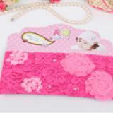 băng đô ren bản to đính hoa hồng  Size: free size