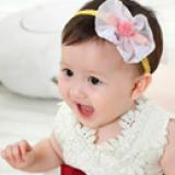 băng đô nơ voan nhụy tròn  Size: free size dưới 4 tuổi