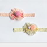 băng đô nơ voan nhụy tròn đính hạt  Size: free size dưới 4 tuổi