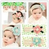Băng đô hoa voan baby( hoa xanh, hoa hồng cam)  Size: free size