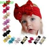 Băng đô nơ kết kim sa( đỏ, hồng, tím, trắng phối hồng) Size free size