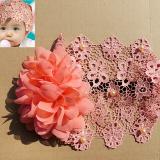 Băng đô ren đính bông hoa và hạt cườm  Size: free size