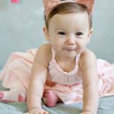 băng đô tai mèo hồng cotton  phong  cách Hàn Quốc Size free size