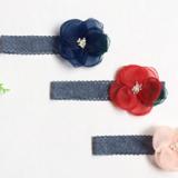 băng đô ren hoa voan phong cách Hàn Quốc Size free size