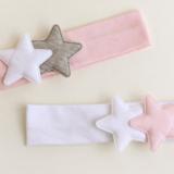 băng đô thun 2 ngôi sao phong cách Hàn Quốc Size free size