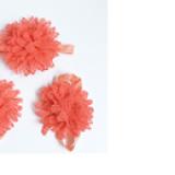 set nơ đeo chân và băng đô hoa cam  Size: free size
