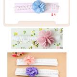 băng đô hoa vải chấm bi Size free size