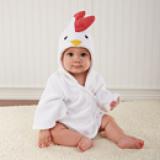Áo choàng tắm hiệu OEM cao cấp gà con  Size: 0-3 tuổi, 54 * 43 * 45cm , 100% cotton