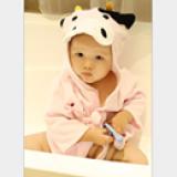 Áo choàng tắm hiệu OEM cao cấp bò sữa  Size: 0-3 tuổi, dưới 105cm , 100% cotton