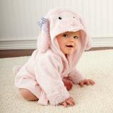 Áo choàng tắm hiệu OEM cao cấp cừu hồng  Size: 0-3 tuổi, dưới 105cm , 100% cotton