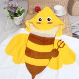 Khăn choàng đi biển, hồ bơi, hay dùng cho bé hóa trang thành những chú ong dễ thương.  Size: 60 x 120 cm