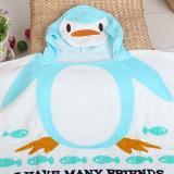 Khăn choàng đi biển, hồ bơi, hay dùng cho bé hóa trang thành những chú chim cánh cụt ngộ nghĩnh.  Size: 60 x 120 cm