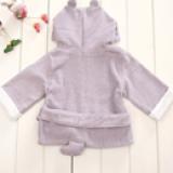 Áo choàng tắm hiệu OEM cao cấp hà mã tím  Size: 0-3 tuổi, dưới 105cm , 100% cotton