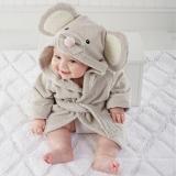 Áo choàng tắm hiệu OEM cao cấp chuột xám  Size: 0-3 tuổi, dưới 105cm , 100% cotton