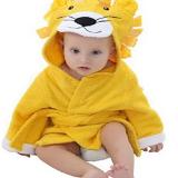 Áo choàng tắm hiệu OEM cao cấp sư tử vàng  Size: 0-3 tuổi, dưới 105cm , 100% cotton