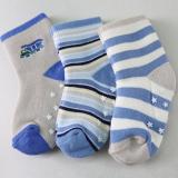 set 3 đôi vớ Hàn Quốc, chất liệu: Cotton, co giãn tốt. Đế có lớp chống trơn trượt  Size: S(0-2t), M (2-4t)