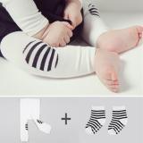 set quần legging kèm vớ Hàn Quốc, chất liệu: Cotton mềm mại, đàn hồi  tốt  Size: S ( 0-2 tuổi)          M  (2-4 tuổi)