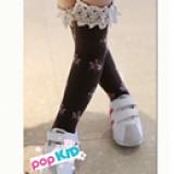 vớ ren cổ cao in hoa phong cách Hàn Quốc, chất liệu: Cotton mềm mại, đàn hồi tốt  Size: free size 3-10 tuổi(dài khoang 42cm)