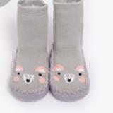 vớ hoạt hình chống trượt đế xuồng cổ cao. Sản phẩm thiết kế 2 trong 1, vừa là đôi giày vải êm ái, vừa là đôi vớ cổ ngắn cho bé.  Size: 13cm(3-12 tháng)