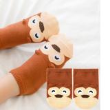 vớ cotton ngắn cổ Hàn Quốc khỉ nâu  Size: trên 1 tháng