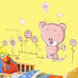 Decal gấu hồng