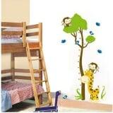 Thước đo đôi bạn khỉ (có thể dùng trang trí phòng)  Size: 75x 150cm