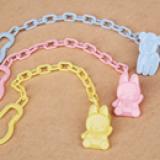 dây nhựa giữ núm vú giả cho bé  Size: 24 * 3cm